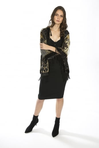 Animal Print Silk Devore Jacket