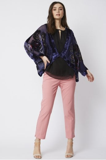 Butterfly Silk Devore Jacket