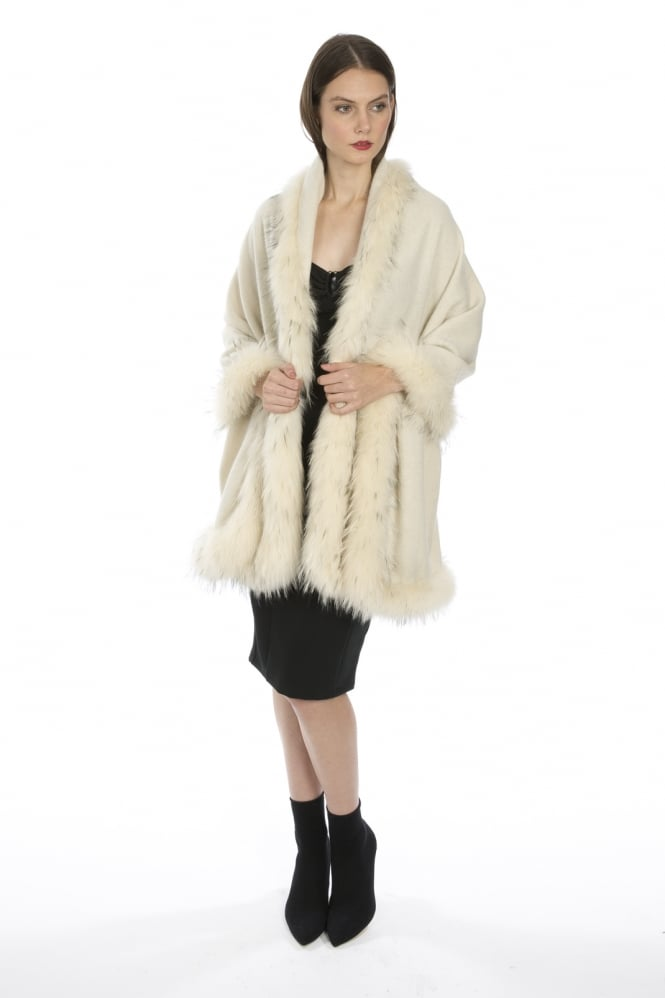 JAYLEY Cashmere and Fur Wrap