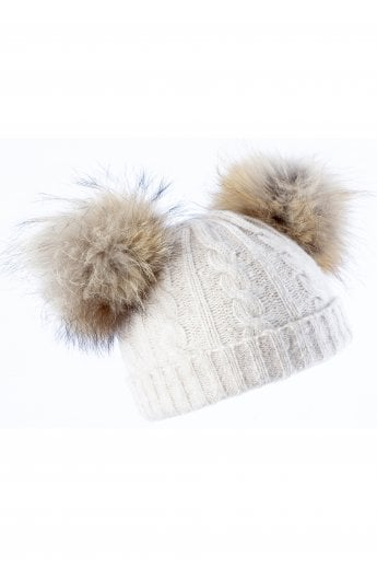 010f85a968e Cashmere Blend Fox Fur Hat