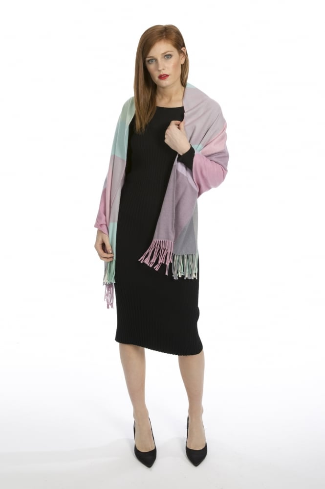 JAYLEY Cashmere Blended Check Wrap