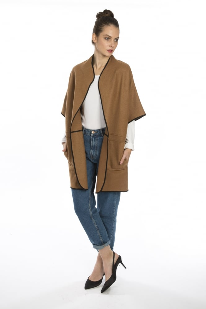 JAYLEY Cashmere edged Cape