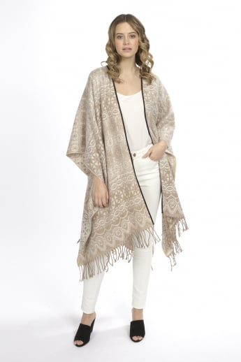 Cashmere Patterned Cape