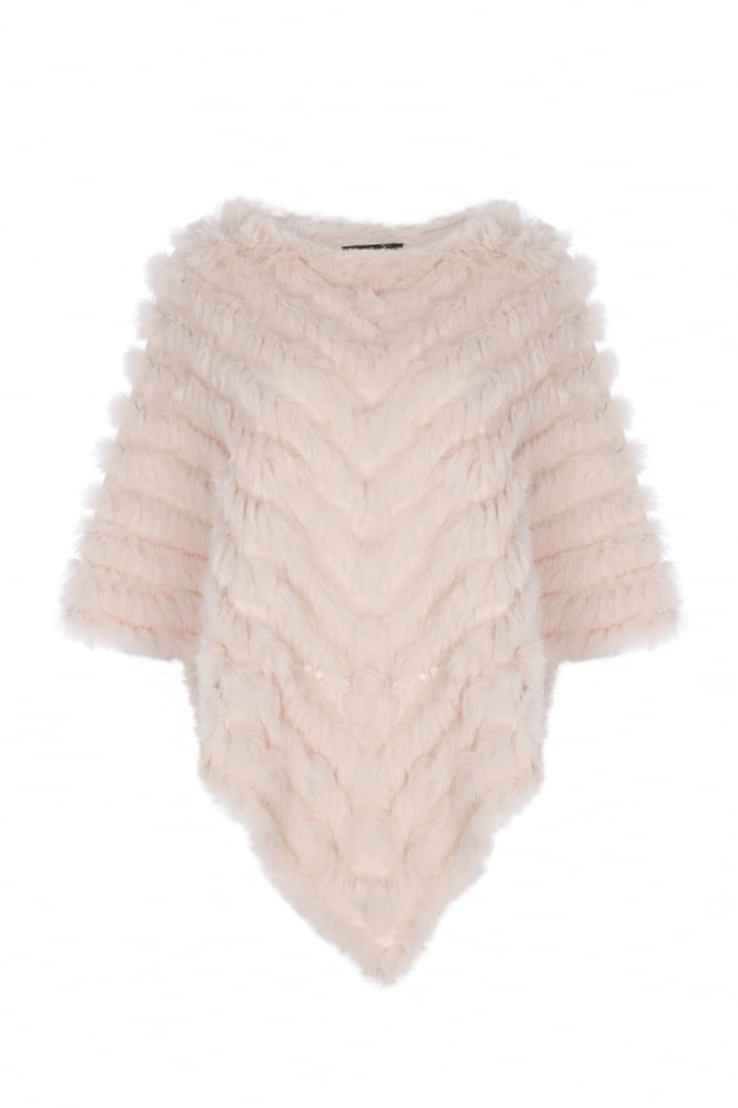 JAYLEY Coney Fur Poncho