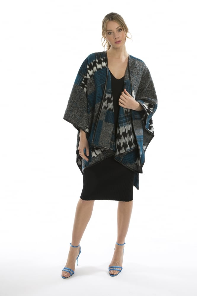 JAYLEY Dog Tooth Wool Wrap