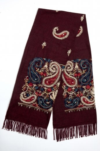 8be78ad15d4 Embroidered Cashmere Blend Wrap