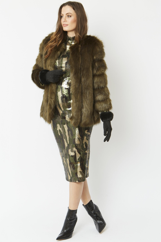 Jayley Black Luxury Faux Fur Gilet Brand New One Size