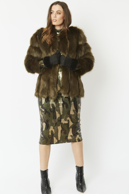 Luxury Womens Faux Fur Coat
