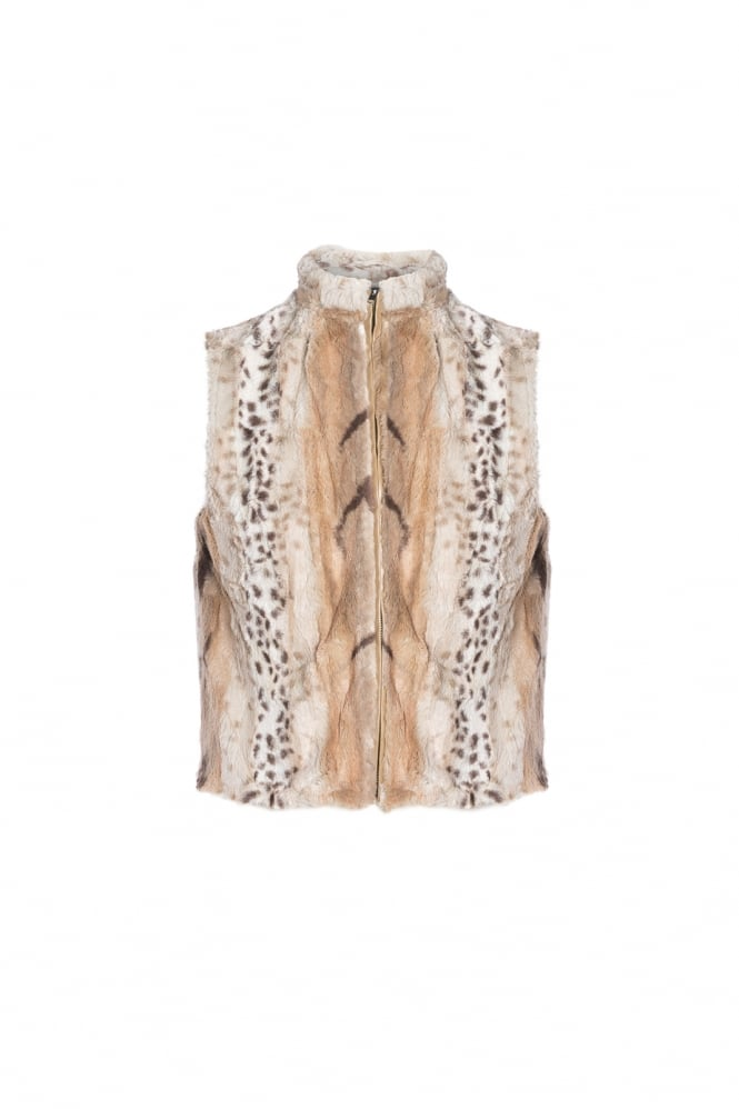JAYLEY Faux Fur Gilet