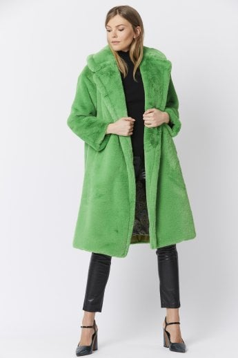2159cb2cf Faux Fur Maxi Shearling Coat