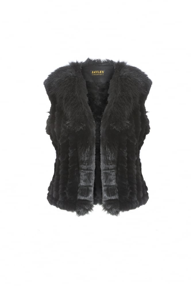 JAYLEY Faux Fur Short Gilet
