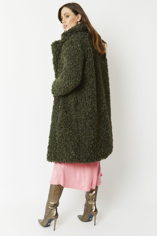 JAYLEY Faux Shearling Teddy Coat
