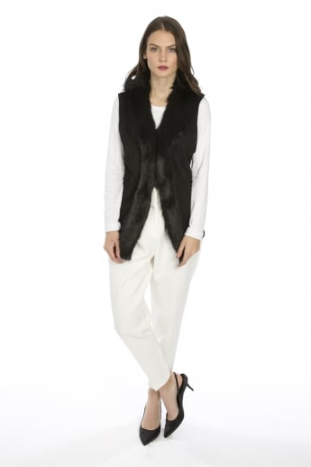 Faux Suede and Faux Fur Gilet