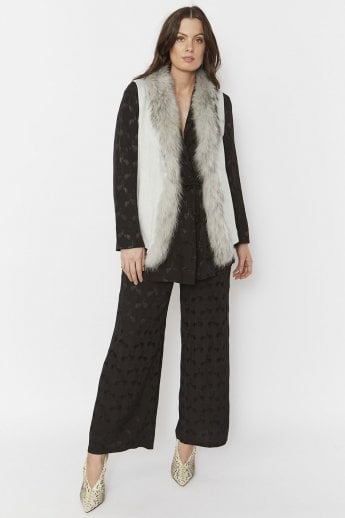 Faux Suede and Fur Gilet