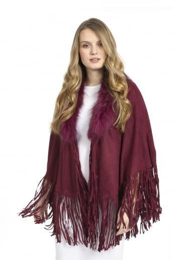 Faux Suede Cape