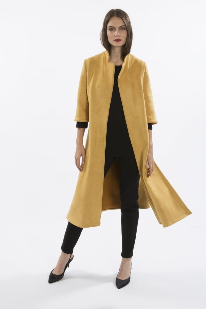 JAYLEY Faux Suede Long Jacket