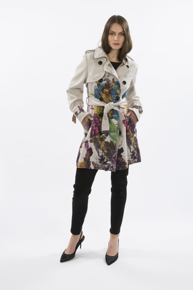 JAYLEY Faux Suede Trench Coat