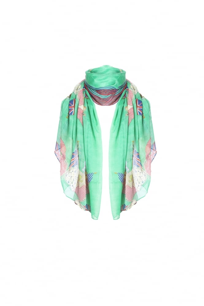 JAYLEY Flag Print Shawl