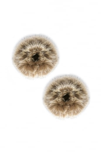Fleck Faux Fur Cuffs