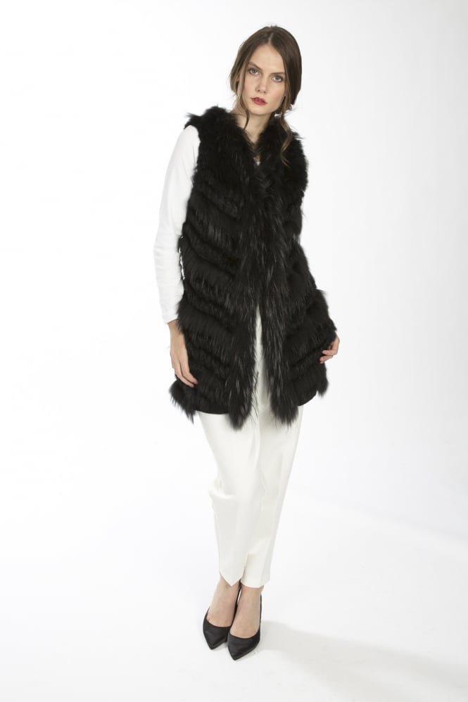 JAYLEY Fox and Coney Fur Gilet