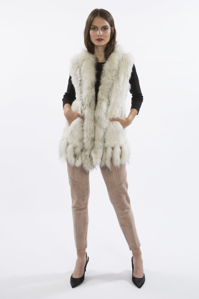 JAYLEY Fox & Coney Fur Gilet