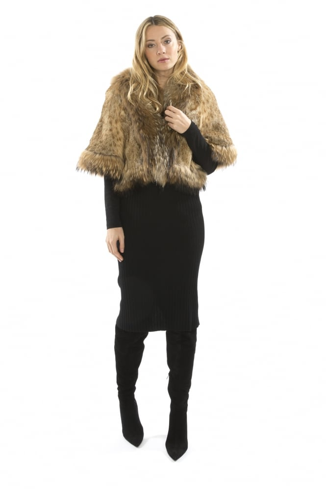 JAYLEY Fox Fur Cape