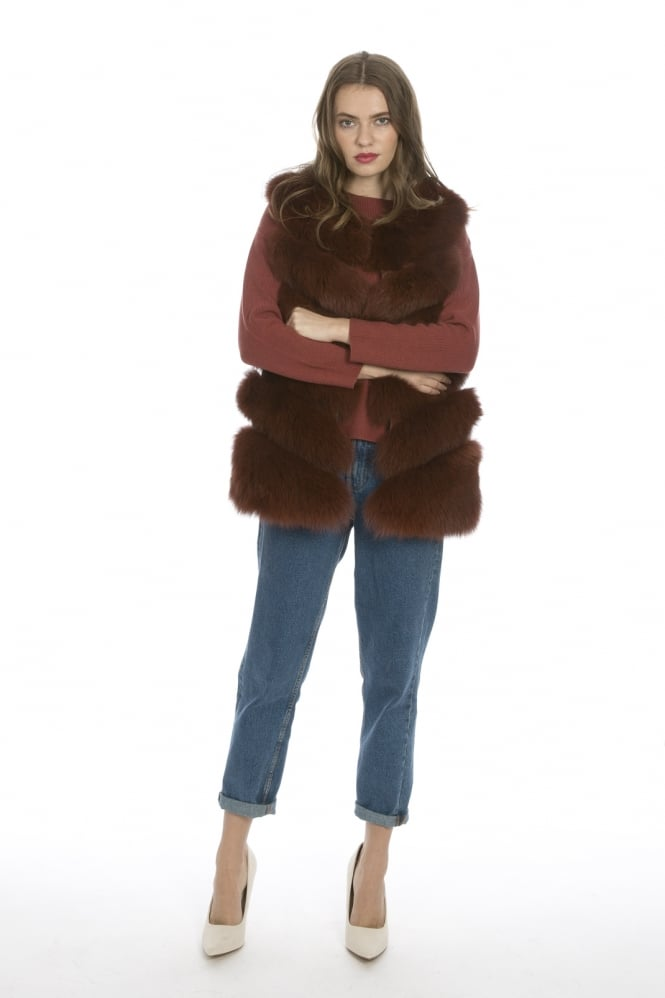 JAYLEY Fox Fur Gilet