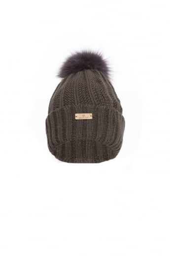 Fox Fur Pom Pom Hat