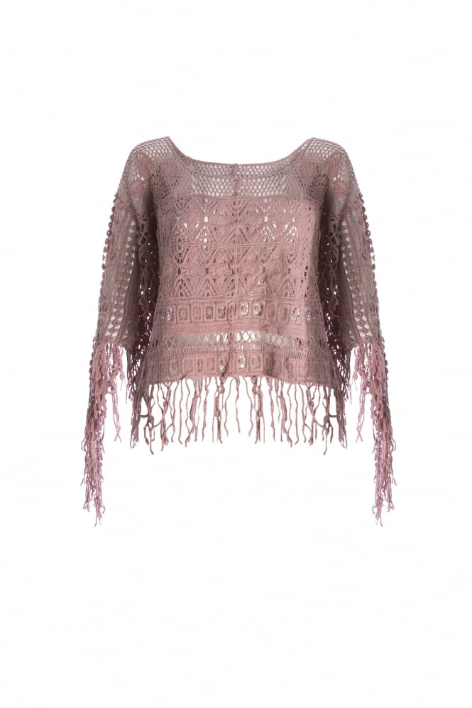 JAYLEY Fringed Lace Top