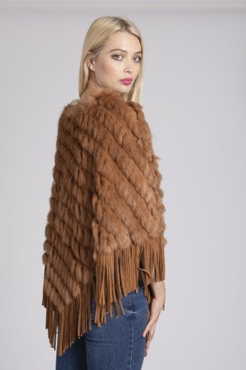 Fur and Suedette Poncho