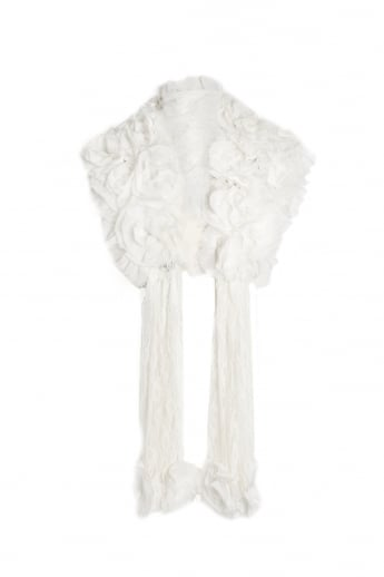 Fur and Vintage Lace Stole