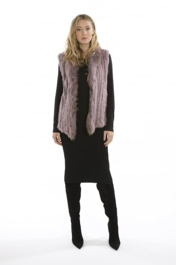 Fur Gilet With Collar Feature
