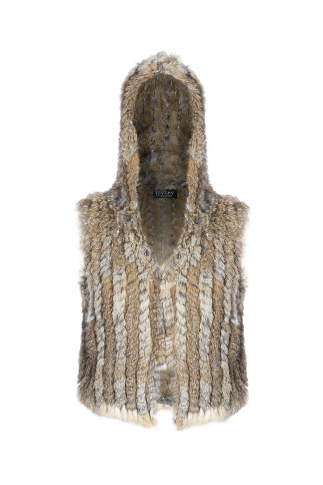 JAYLEY Fur Hooded Gilet