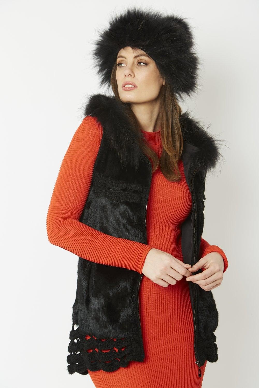 JAYLEY Fur Pom Pom Hat 6c52594396c