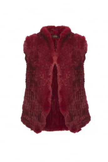 Hand Knitted Faux Fur Gilet