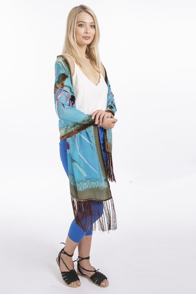 JAYLEY Hand Paint Silk Blend Stole