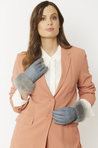 Leather and Fur Gloves