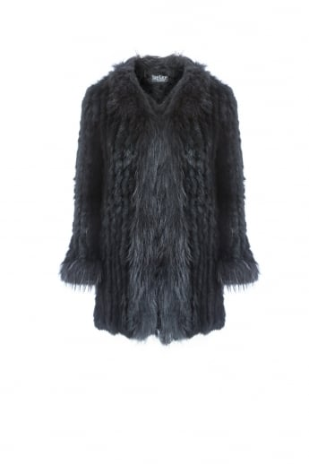 Long Fox and Coney Fur Jacket