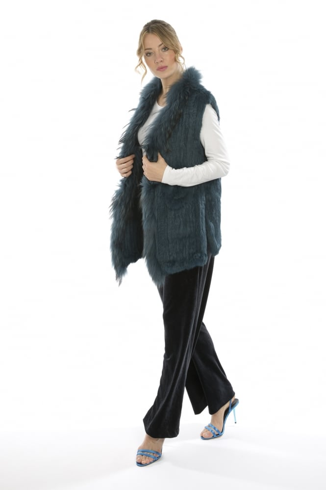 JAYLEY Long Fur Gilet