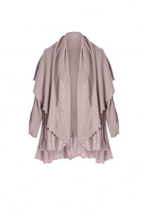 JAYLEY Long Knitted Cape