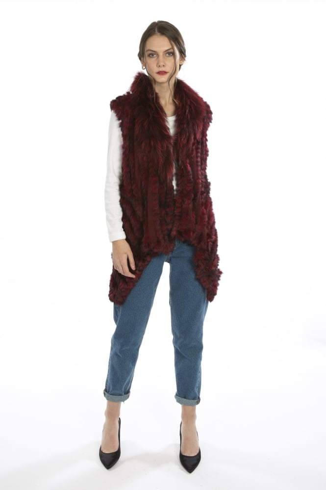 JAYLEY Longer Length Fur Gilet