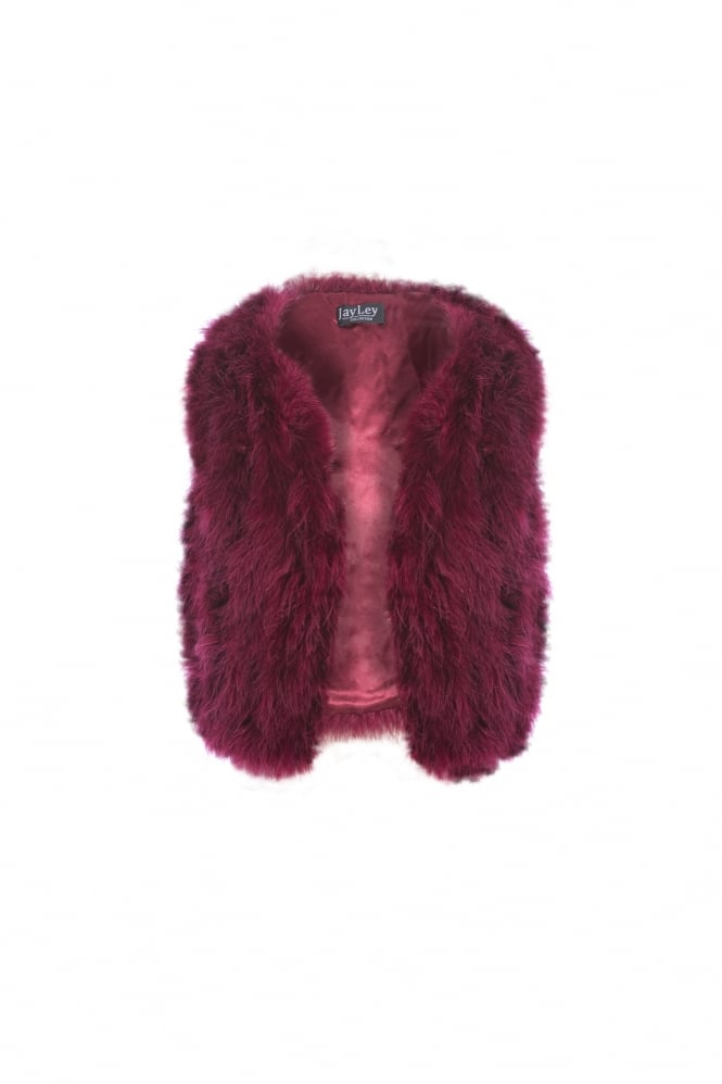 JAYLEY Maribou Feather Gilet