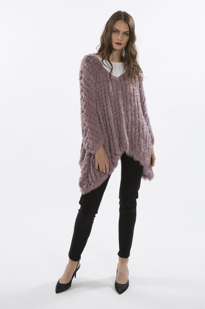 JAYLEY Mid Length Asymmetrical Fur Jacket