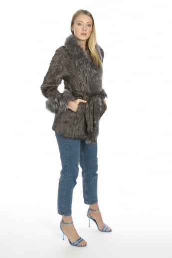 Mink and Silver Fox Fur Coat
