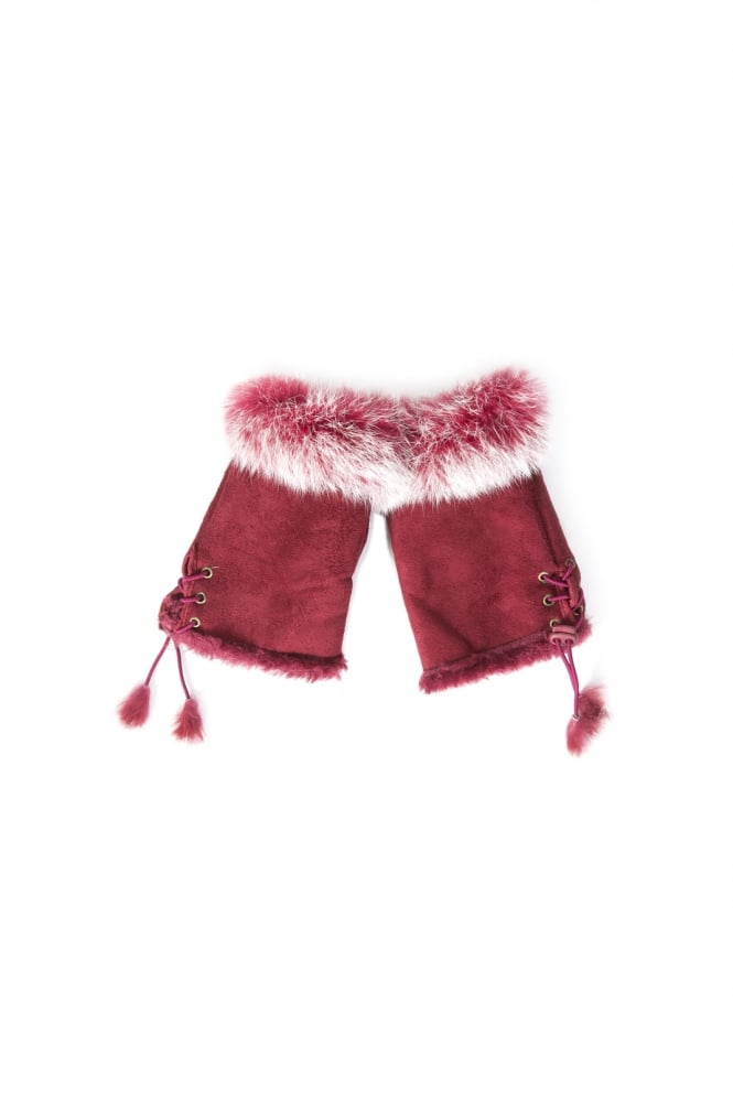JAYLEY Mittens with stylish Fur Finish