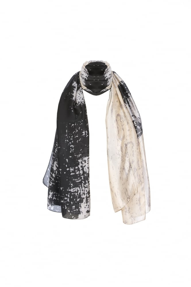 JAYLEY Silk Blend Digital Print Stole