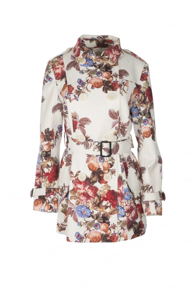 JAYLEY Silk Blend Trench Coat