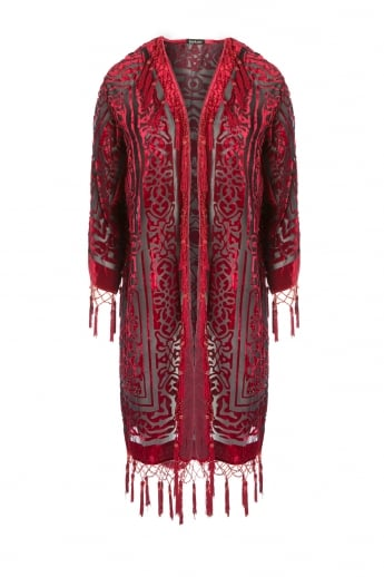 Silk Devore Beaded Jacket