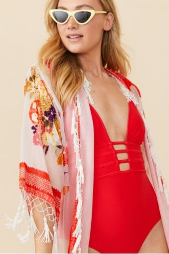 Silk Devore Floral Jacket