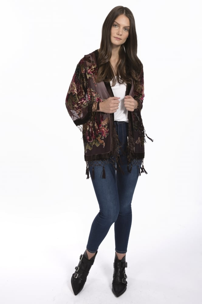 JAYLEY Silk Devore Jacket